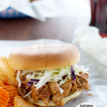 Slow Cooker Teriyaki Barbecue Chicken Sandwiches | www.tasteandtellblog.com