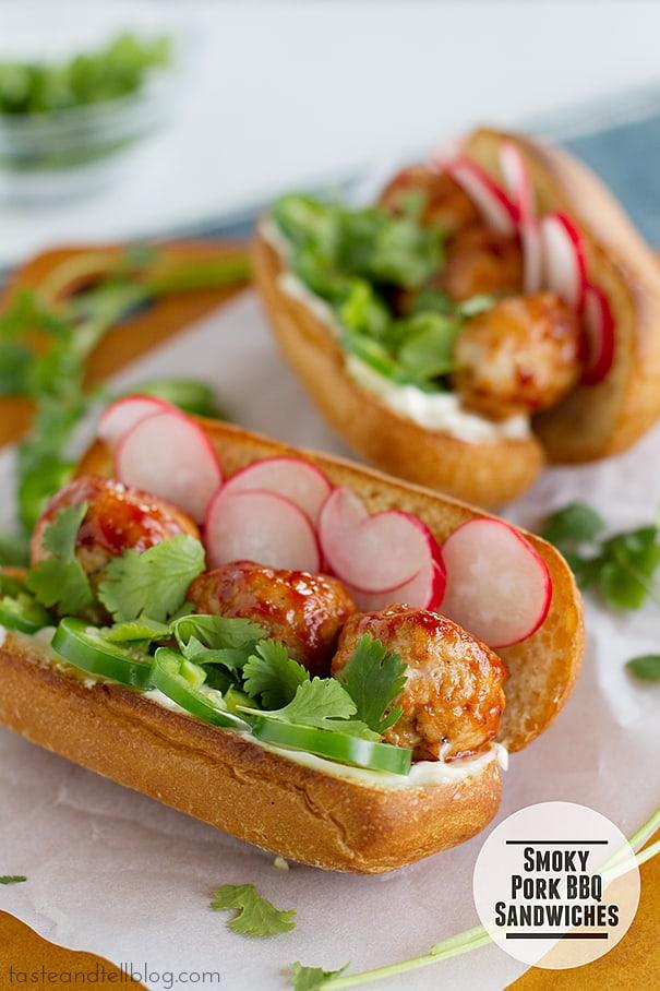 Smoky Pork BBQ Sandwiches | www.tasteandtellblog.com