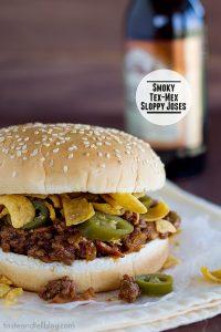 Smoky Tex-Mex Sloppy Joses   www.tasteandtellblog.com