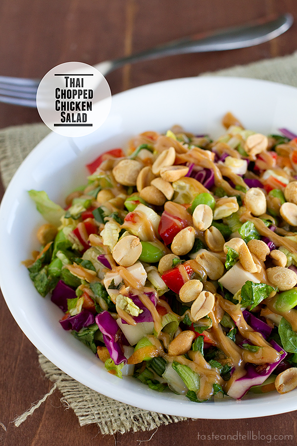 Thai Chopped Chicken Salad - Taste and Tell