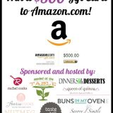 $500 Amazon Gift Card Giveaway | www.tasteandtellblog.com