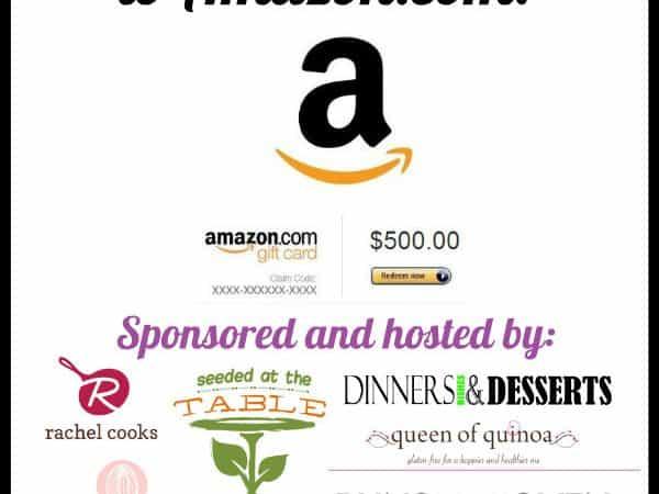 $500 Amazon Gift Card Giveaway | www.tasteandtellblog.com