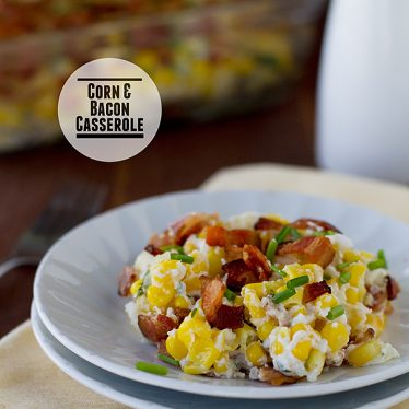 Corn and Bacon Casserole | www.tasteandtellblog.com
