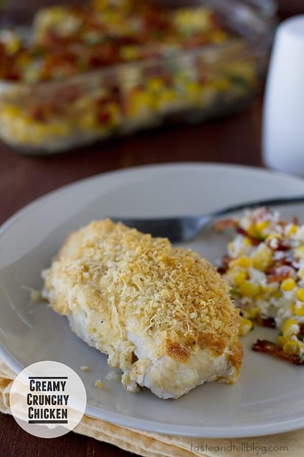 Creamy Crunchy Chicken | www.tasteandtellblog.com