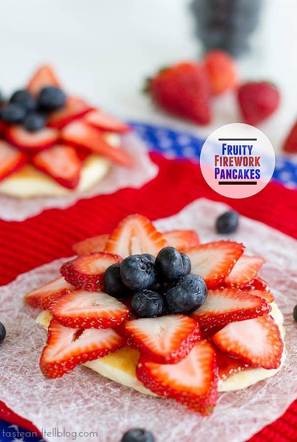 Fruity Firework Pancakes