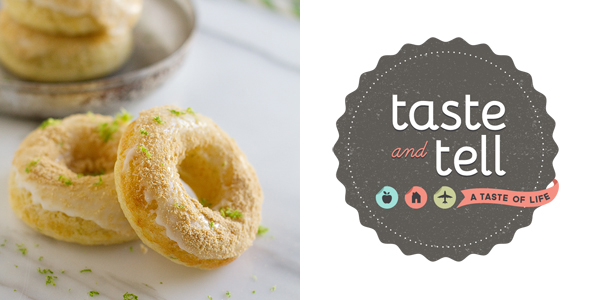 Key Lime Party - Baked Key Lime Pie Donuts from Taste and Tell