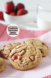 Strawberry Cheesecake Cookies | www.tasteandtellblog.com