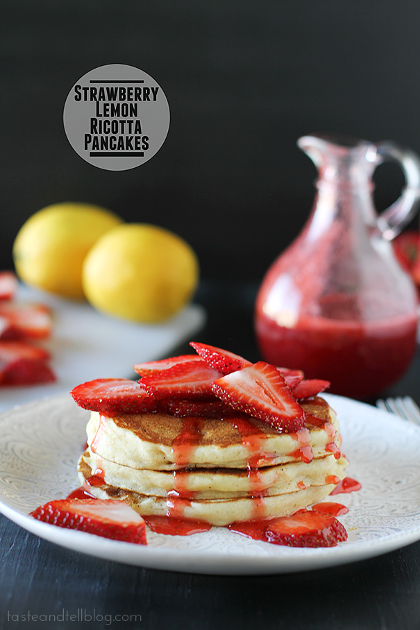 Strawberry Lemon Ricotta Pancakes