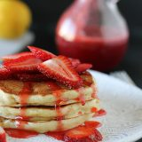 Strawberry Lemon Ricotta Pancakes | www.tasteandtellblog.com