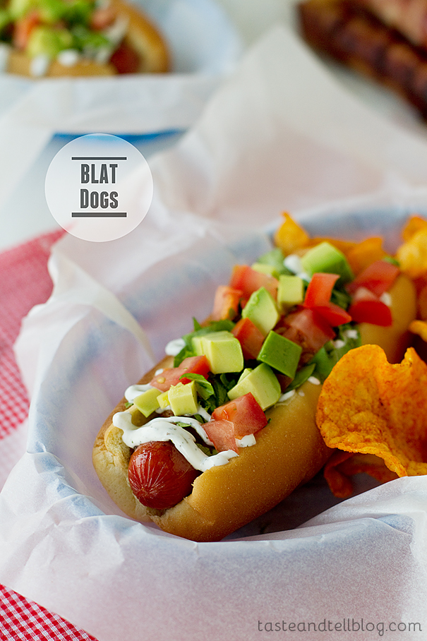 BLAT Dogs - Bacon, Lettuce, Avocado and Tomato Hot Dogs | www.tasteandtellblog.com