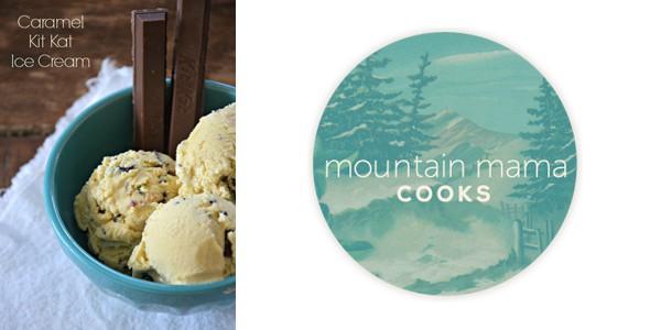 Caramel Kit Kat Ice Cream by Mountain Mama Cooks