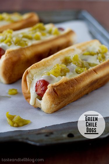 Green Chile Dogs | www.tasteandtellblog.com