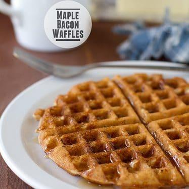 Maple Bacon Waffles   www.tasteandtellblog.com