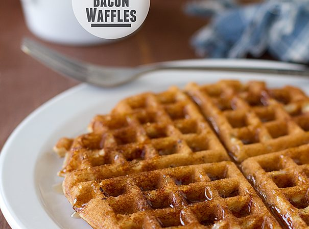 Maple Bacon Waffles | www.tasteandtellblog.com