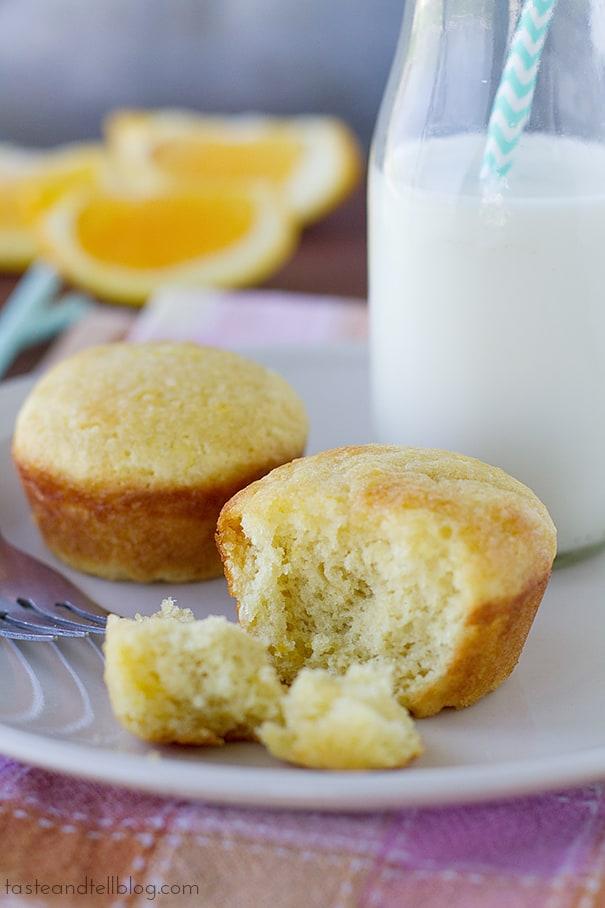 Orange Muffins   www.tasteandtellblog.com