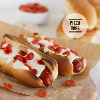 Pizza Dogs | www.tasteandtellblog.com