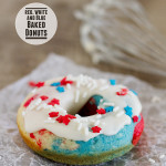 Red, White and Blue Baked Donuts