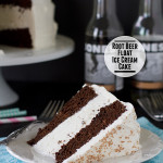 Root Beer Float Ice Cream Cake {Frozen Treats Blog Party}