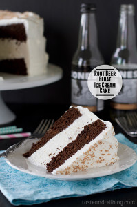 Root Beer Float Ice Cream Cake | www.tasteandtellblog.com
