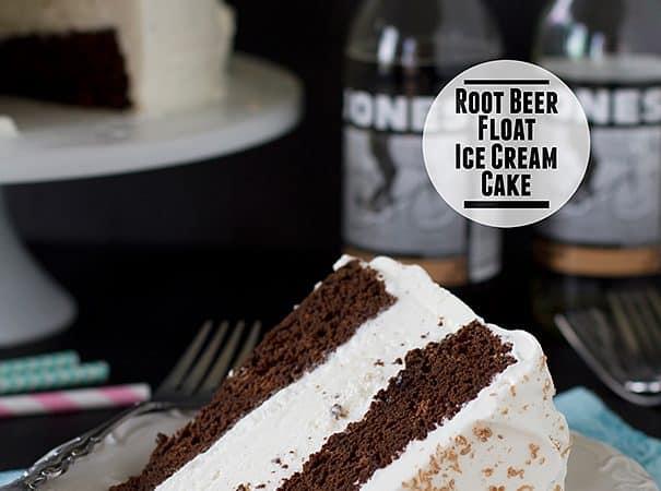 Root Beer Float Ice Cream Cake | www.tasteandtellblog.com
