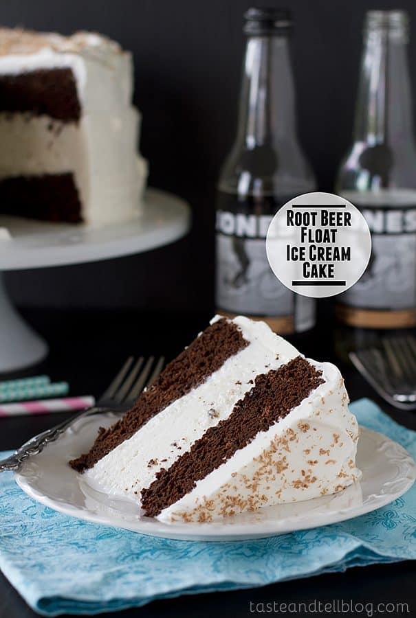 Root Beer Float Ice Cream Cake {Frozen Treats Blog Party}