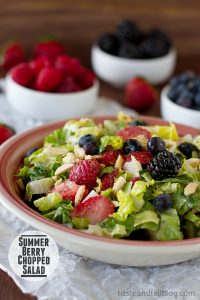 Summer Berry Chopped Salad   www.tasteandtellblog.com