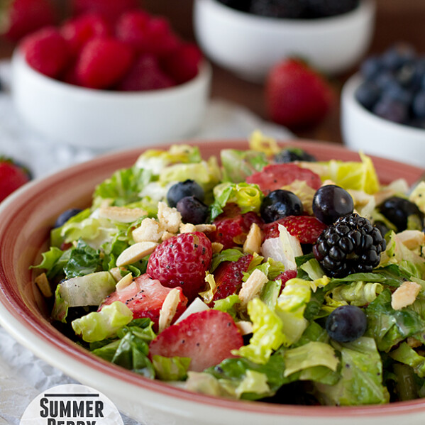 Summer Berry Chopped Salad | www.tasteandtellblog.com