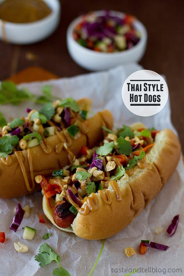 Thai Style Hot Dogs   www.tasteandtellblog.com