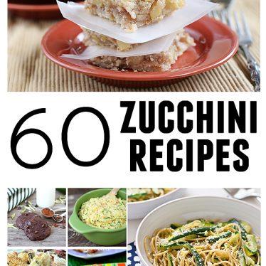 60 Zucchini Recipes | www.tasteandtellblog.com