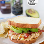BBQ Ranch Chicken Salad Sandwiches