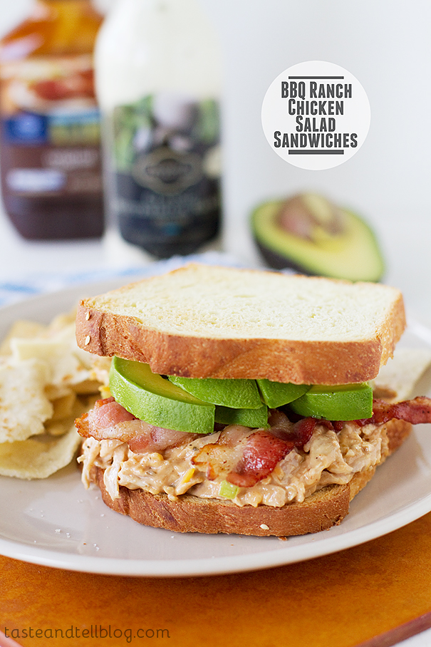 Bbq Ranch Chicken Salad Sandwiches Taste And Tell