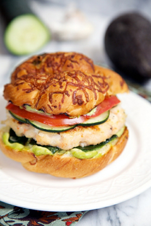 Baja Shrimp Burger by Apron Strings