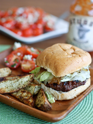 Barbecue Bison Burgers by Aggie's Kitchen