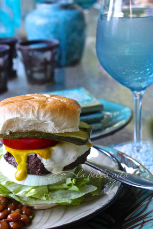 Buffalo Beef Pepper Jack Cheese Burgers by La Bella Vita Cucina