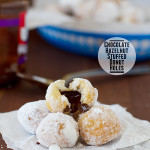 Chocolate Hazelnut Stuffed Donut Holes | www.tasteandtellblog.com