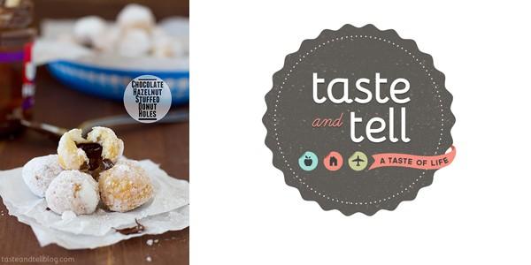 Chocolate Hazelnut Stuffed Donut Holes by Taste and Tell