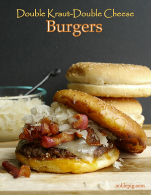 Double Kraut Double Cheese Burgers by Noble Pig