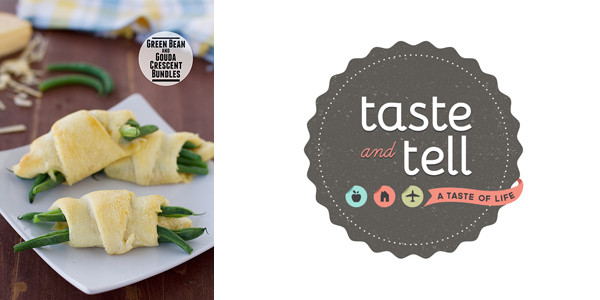 Green Bean and Gouda Crescent Bundles by Taste and Tell