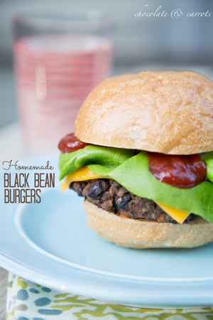 Homemade Black Bean Burgers by Chocolate and Carrots
