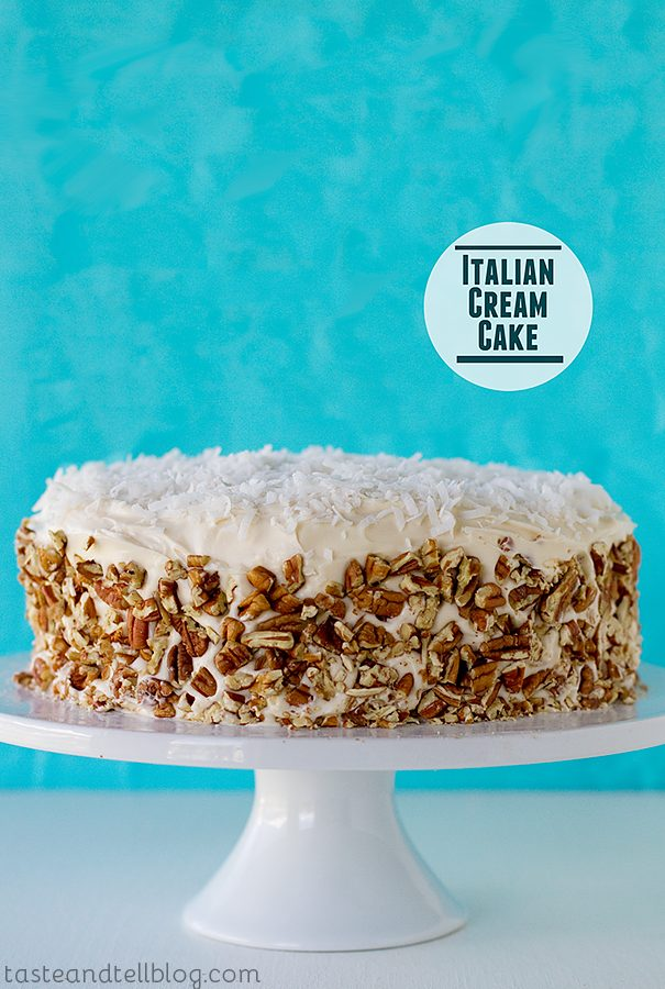 Italian Cream Cake {Virtual Baby Shower}