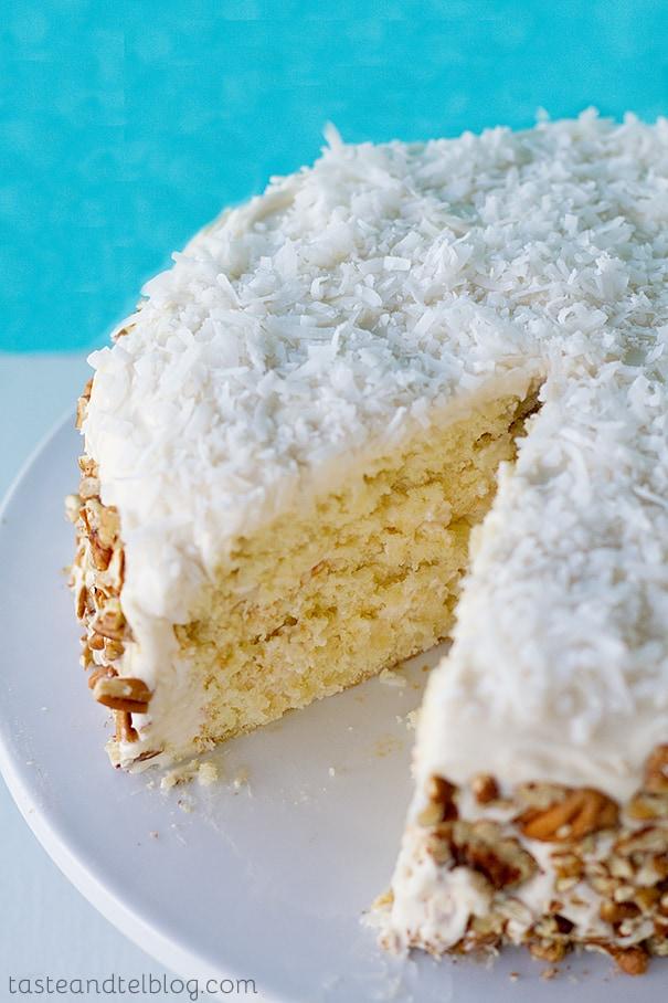 Italian Cream Cake | www.tasteandtellblog.com