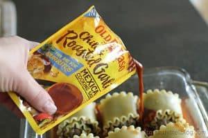 Mexican Lasagna Roll Ups   www.tasteandtellblog.com