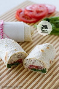 Pesto Chicken Wraps | www.tasteandtellblog.com