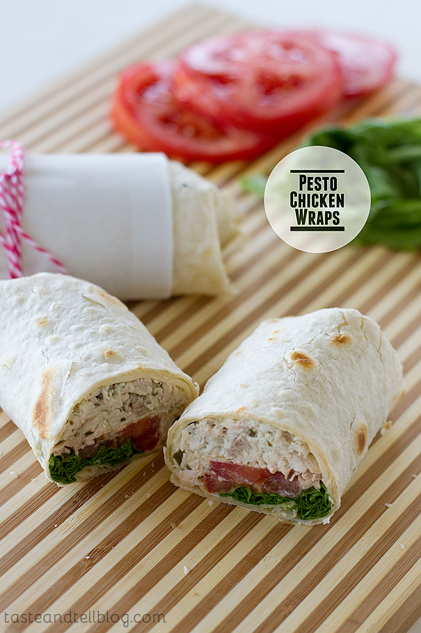 Pesto Chicken Wraps