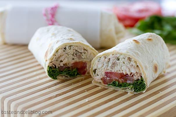 Pesto Chicken Wraps   www.tasteandtellblog.com
