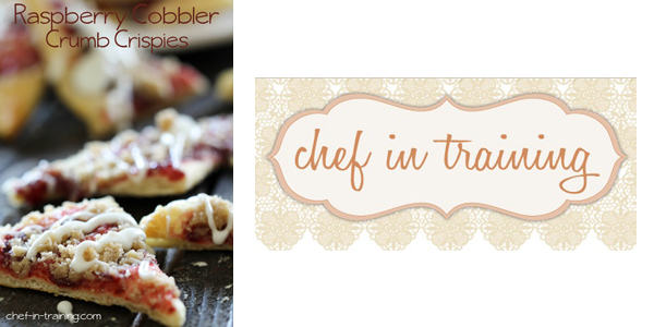 Raspberry Cobbler Crumb Crispies by Chef in Training