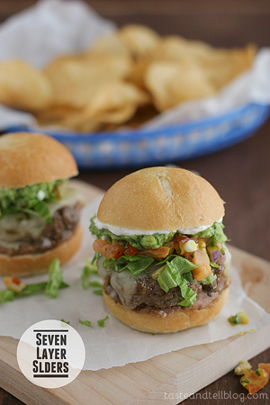Seven Layer Sliders by Taste and Tell