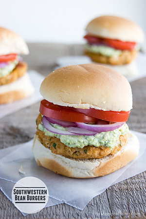 Southwestern Bean Burgers by Taste and Tell