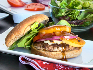 Grilled Teriyaki Burgers by Budget Gourmet Mom