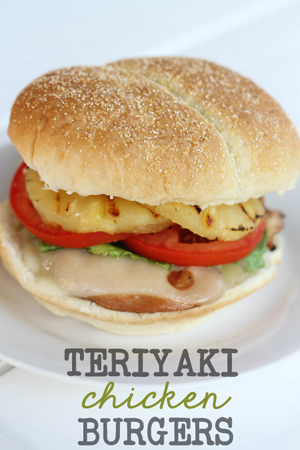 Teriyaki Chicken Burgers by Lil' Luna